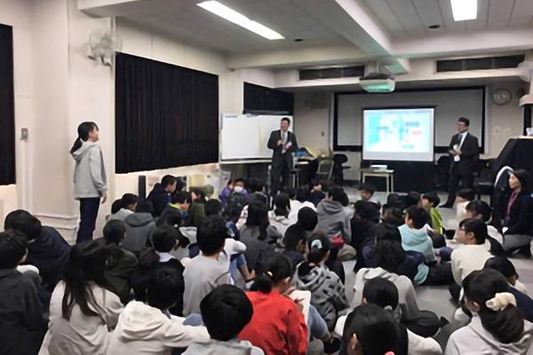平成29年11月16日(木) 万騎が原小学校6年生に沿線のまちづくりについて出張授業を行いました