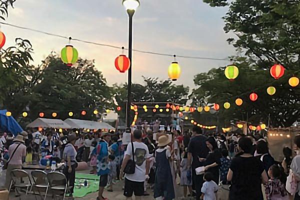 2018年7月21日(土) 今年も南まきが原自治会の夏祭りに緑園高校の生徒が参加しました