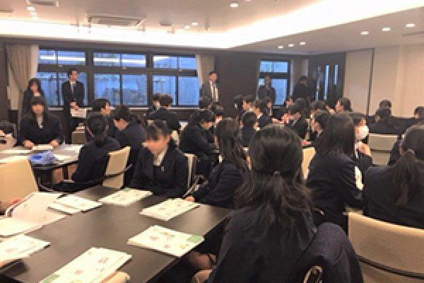 2019年2月21日(木) 二俣川看護福祉高校の生徒が南万騎が原駅周辺の見学を行いました